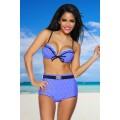 DESIGN BY ATIXO Vintage-Bikini (blue / black / white)