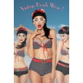 DESIGN BY ATIXO Vintage-Bikini (black / red / white)
