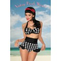 DESIGN BY ATIXO Vintage-Push-Up-Bikini (black-and-white)