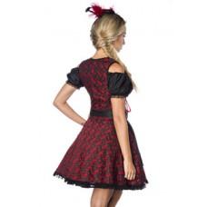 DIRNDLINE Premium Dirndl mit Bluse (Red Black)