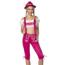 DIRNDLINE Trachtenhose mit Stickereien (Pink)