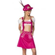DIRNDLINE Trachtenrock mit Stickereien (Pink)