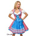 DIRNDLINE Traditionelles Karodirndl (red / blue / white)