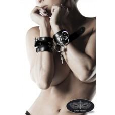 GREY VELVET Leder-Handschellen von Grey Velvet (black)