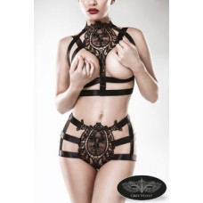 GREY VELVET 2-teiliges Harness-Set von Grey Velvet (black)