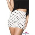 HIPSTYLERS High Waist Shorts (White black)