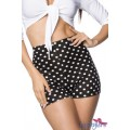 HIPSTYLERS High Waist Shorts (black-and-white)