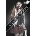 MASK PARADISE Zombiekostüm: Zombie Schoolgirl (gray / red / white)