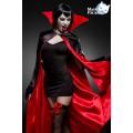 MASK PARADISE Vampirkostüm: Sexy Vampire (black red)