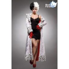 MASK PARADISE Evil Dalmatian Lady (black-and-white)