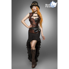 MASK PARADISE Steampunk Lady (Brown black)