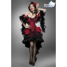 MASK PARADISE Burlesque Saloon Girl (black red)