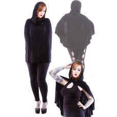 Necessary Evil Gothic Dunne Hooded Cape