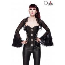 OCULTICA Gothic-Bolero mit Spitze (black)