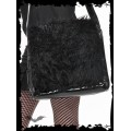 Queen of Darkness Black imitation fur bag with long strap