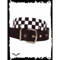 Queen of Darkness 3 row chessboard pattern belt
