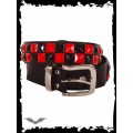 Queen of Darkness 2 row black & red chessboard belt