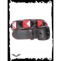Queen of Darkness Belt with black & red pyramid studs