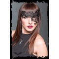 Queen of Darkness Black mask made of lace with only 1 eyel
