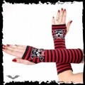 Queen of Darkness Arm warmers. Black/red striped. Girly sk