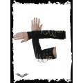 Queen of Darkness Arm Warmers with Chains and Buckles