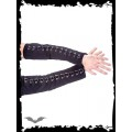 Queen of Darkness Black gloves with rings