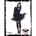Queen of Darkness Garter belt look stockings with bows