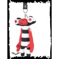 Queen of Darkness Alien keychain with stripes