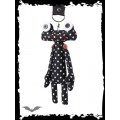 Queen of Darkness Alien keychain with polka dots