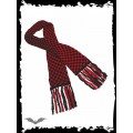 Queen of Darkness Black & red chequered scarf