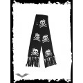 Queen of Darkness Black scarf with smiling skulls.