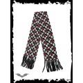 Queen of Darkness Black scarf with skulls & cherries