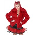 Queen of Darkness Red fur jacket