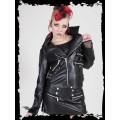 Queen of Darkness Leather-look Brando style jacket