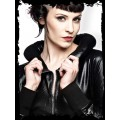 Queen of Darkness Black Jacket with Cushion Collar