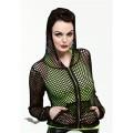 Queen of Darkness Black Hooded Net Jacket