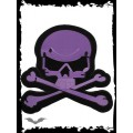 Queen of Darkness Big purple skull patch for wall or floor