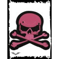 Queen of Darkness Big pink skull patch for wall or floor