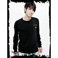 Queen of Darkness Sweater with Skull On Front Pocket
