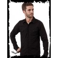 Queen of Darkness Black Button-Down Shirt with diagonal Fr
