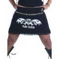 Queen of Darkness PUNK QUEEN miniskirt with many rivets