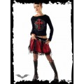 Queen of Darkness Red miniskirt with black net layer