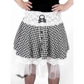 Queen of Darkness White/black skirt with white lace