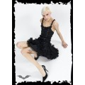 Queen of Darkness Frilly black skirt with studs & bows
