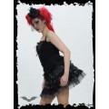 Queen of Darkness Black & White Polka Dot Ballerina Skirt