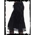 Queen of Darkness Knee Length Grey Skirt with Laces