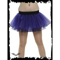 Queen of Darkness Purple Tutu Style Mini Skirt