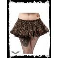 Queen of Darkness Fluffy Layered Leopard Skirt
