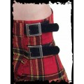Queen of Darkness Red & yellow chequered thick Kilt