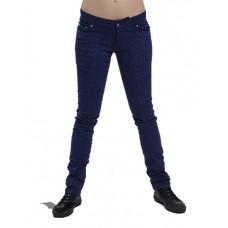 Queen of Darkness Blue Leopard Design Trousers